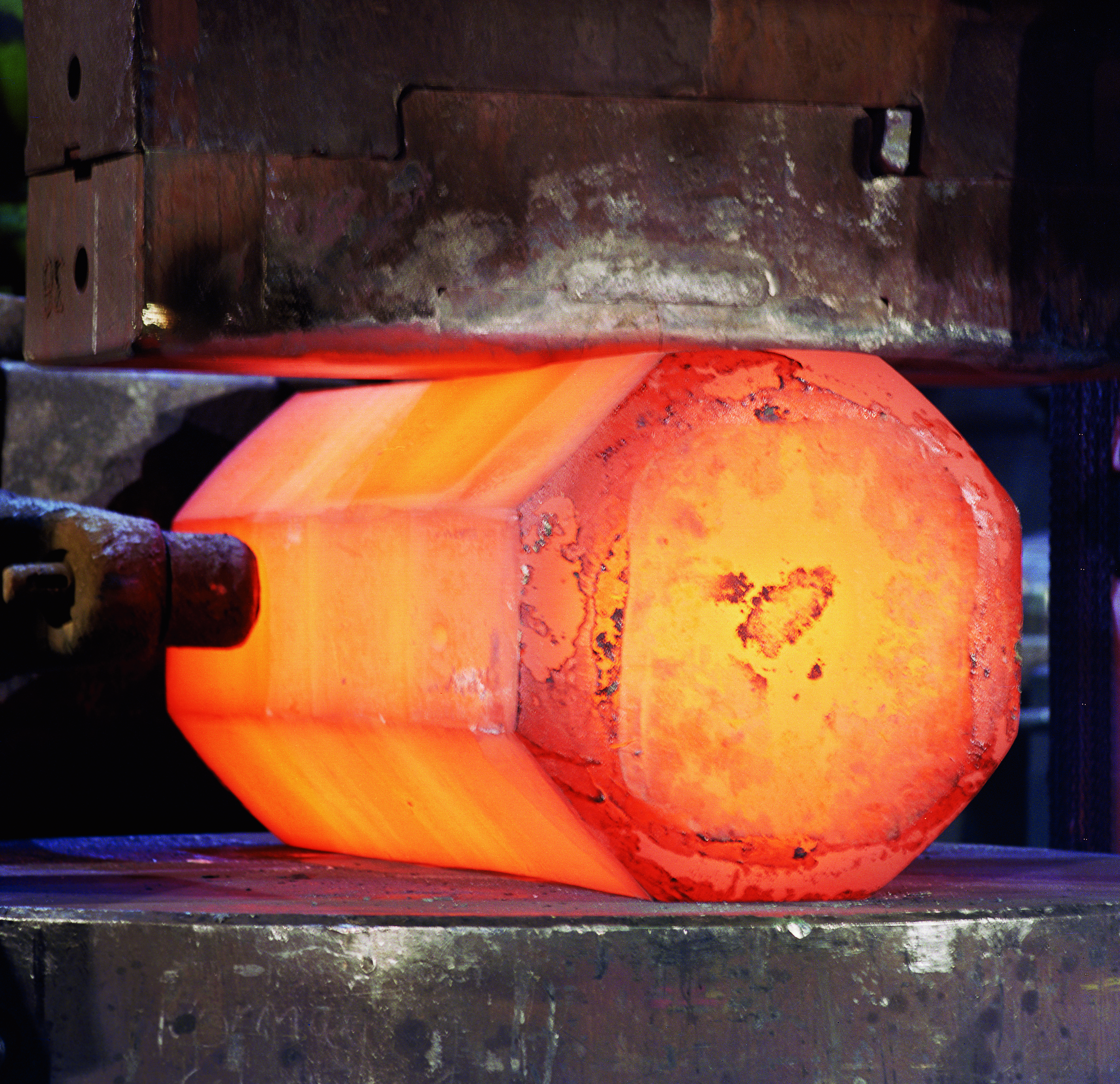 forging Forging is a process in which a metal is heated and placed in a die and a compressive force is applied the metal takes the shape of the die and very strong parts can be produced due to the favorable orientation of the grain.